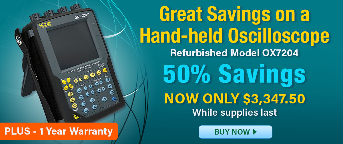 50% off refurbished oscilloscope