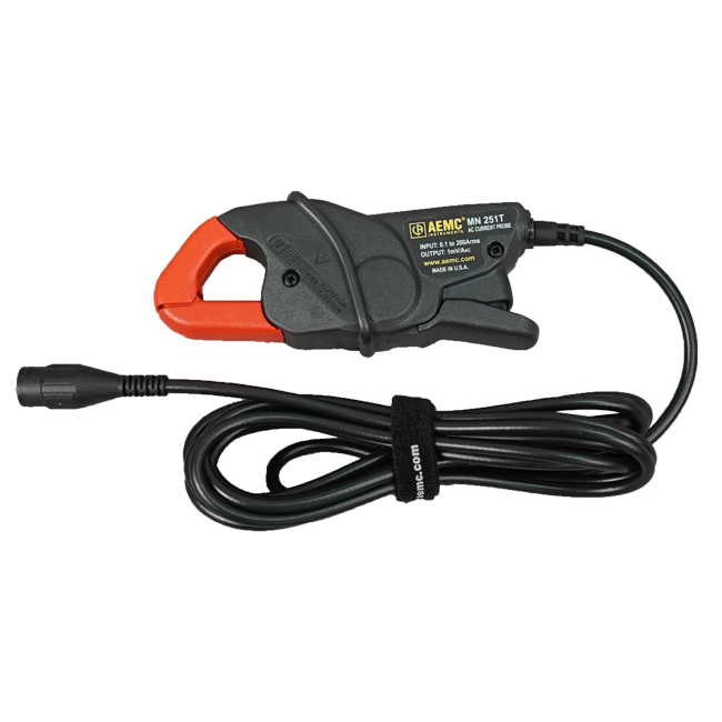 1A to 100A Range AEMC MN05 Compact AC Current Probe with 5 Lead 1V//A Output