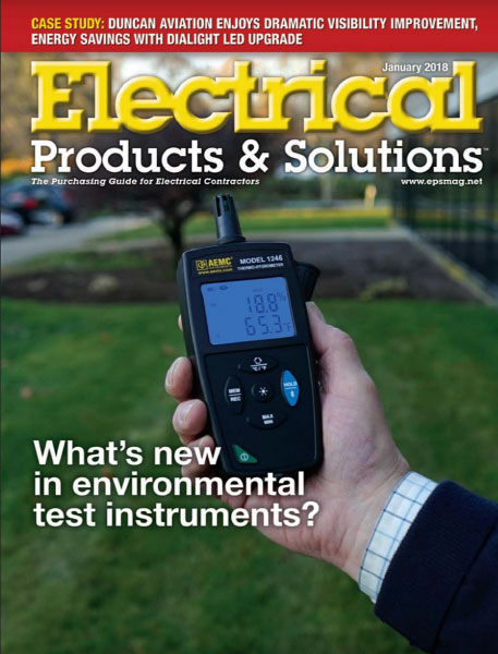 AEMC Instruments Electrical Products and Solutions cover story Environmental Test Instruments