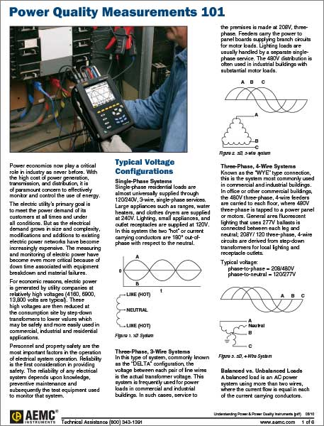 Understanding power quality Measurements article