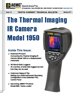 AEMC Tech Bulletin Issue 12 - Connecting the Model 1950 IR Camera to a Measurement Instrument