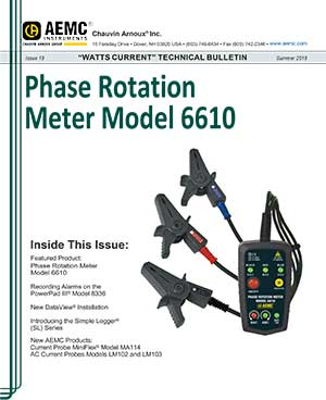 AEMC Tech Bulletin Issue 19 - Phase Rotation Meter Model 6610