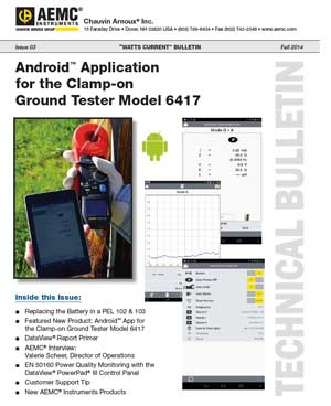 Android App for the AEMC Clamp-on Ground Tester Model 6417
