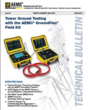 AEMC Tech Bulletin Issue 4 - Tower Ground Testing with the AEMC® GroundFlex® Field Kit