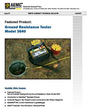 Fall-of-Potential Testing with the Ground Resistance Tester Model 3640