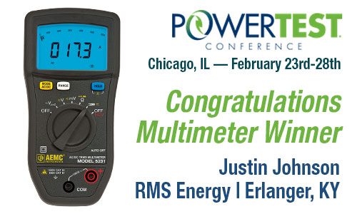 Distributech Multimeter Winners - Congratulations